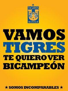 ¡Vamos Tigres, te quiero ver Bicampeón!