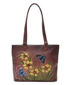 Look at this #zulilyfind! Purple Daffodil Leather Tote #zulilyfinds