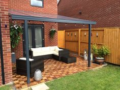 Pergola For Small Patio Curved Pergola, Outdoor Pergola, Outdoor Rooms, Small Pergola, Modern Pergola, Covered Pergola, Diy Pergola, Pergola Ideas, Patio Ideas