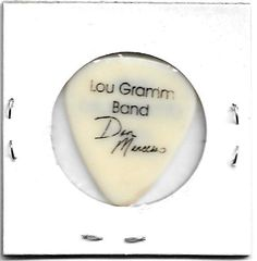 Lou Gramm Band/Don Mancuso 2002 Tour Stage Used Guitar Pick! Mint Condition Rare