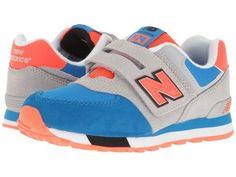 New Balance Kids - KV574v1 Cut Paste (Little Kid/Big Kid) (Grey/Blue) Boys Shoes