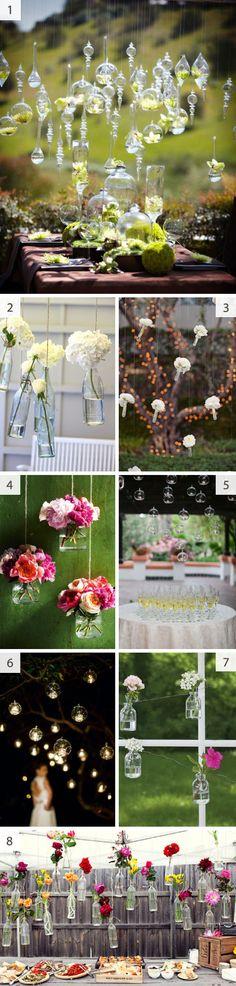 hanging glass wedding decorations