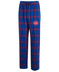 Concepts Sport Men s Detroit Pistons Homestretch Flannel Sleep Pants -  Blue Red XXL Flannel Pajama 998c0cece