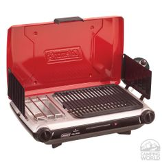Coleman Red Two Burner Electronic Ignition Propane Grill Stove - Coleman 2000003733 - Gas Grills - Camping World