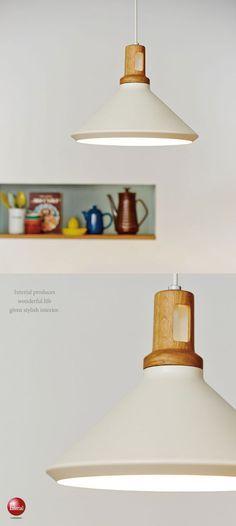天然木&スチール・北欧ペンダントライト(1灯)LED電球&ECO球対応 Lamp Design, Lamp, Light, Interior, Lighting, Lights, Pendant Light, House Interior, Ceiling Lights