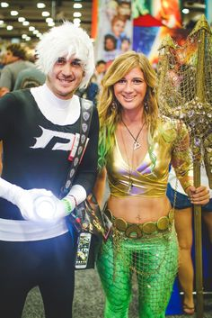 Comic Con 2014 Aquaman and Danny Phantom #ComicCon #aquaman #sdcc2014 #aquawoman #cosplay Girl Version of Aquaman