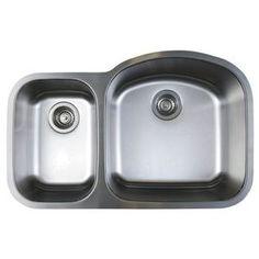 B441262 Stellar Stainless Steel Undermount - Double Bowl Kitchen Sink - Stainless