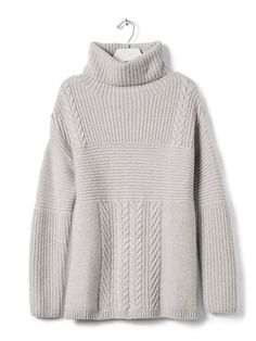 Our Todd & Duncan 100% cashmere textured turtleneck will keep you cozy all season long. Perfect to pair with trousers or a skirt for a warm winter outfit   Banana Republic