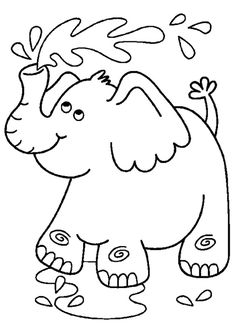 print coloring image - Cute Baby Elephant Coloring Pages