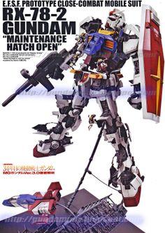 GUNDAM GUY: MG 1/100 RX-78-2 Gundam Ver. 3.0 - Maintenance Hatch Open Poster Image