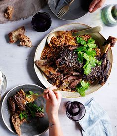 Eight-hour lamb shoulder with Israeli couscous and labne | http://www.gourmettraveller.com.au/recipes/recipe-search/feature-recipe/2014/6/eight-hour-lamb-shoulder-with-israeli-couscous-and-labne/?utm_content=buffer82b70&utm_medium=social&utm_source=pinterest.com&utm_campaign=buffer | #recipes #lamb