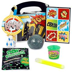 Looking for party favors Superman would love, check out this party favor box from Birthday Express by Amazon
