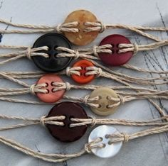 button braclets - Click image to find more diy & crafts Pinterest pins