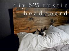 radical possibility: diy | Easy project under $25 - rustic headboard