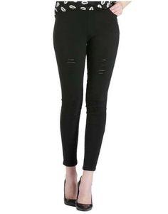 ΝΕΕΣ ΑΦΙΞΕΙΣ :: Παντελόνι Κολάν Striked & Scratched Black - OEM Black Jeans, Pants, Fashion, Trouser Pants, Moda, Fashion Styles, Black Denim Jeans, Women's Pants, Women Pants
