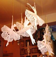 Трафареты для украшений из бумаги. Балерины
