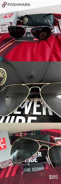 New Ray ban rb3025 aviator sunglasses for sale Selling a pair of new authentic Ray ban sunglasses. Theyre size 58mm comes with everything shown on the first picture. If you have any questions please dont hesitate to ask me! Ray-Ban Accessories Sunglasses
