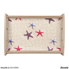 Shop Seaside Serving Tray created by FarrellArt. Breakfast On The Beach, Cheese Trays, Seaside, Cutting Boards, Home Decor, Store, Homemade Home Decor, Tent, Shop Local