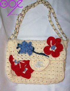 chanel Discount Designer Handbags, Handbags Online, Designer Bags, Filet Crochet, Crochet Bags, Crochet Cardigan, Straw Bag, Free Shipping, Sewing