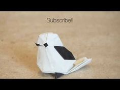 This is the cute origami long tailed little bird by Katsuta Kyohei! It's an amazing and very cute model which is not very difficult to fold and nice to give . Origami Rose, Diy Origami, Origami Garland, Origami And Kirigami, How To Make Origami, Paper Crafts Origami, Useful Origami, Origami Folding, Origami Tutorial