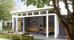 houten buitenkeuken