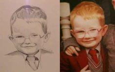 This portrait of baby Sheeran. Ed Sheeran fan art that is amazing.