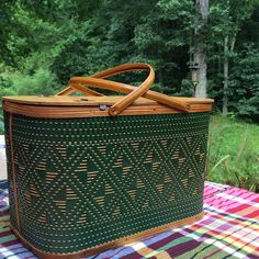 Large Hawkeye Classic Green Picnic by putnamandspeedwell Oh,  I have one. It was my grandmothers.  Now none of my children want it. Such a shame they don't