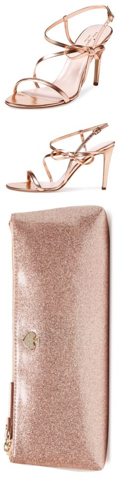 Ideas For Wedding Rose Gold Shoes Kate Spade Rose Wedding, Wedding Shoes, Prom Shoes, Miu Miu, Jimmy Choo, Rose Gold Shoes, High Shoes, Louboutin, Louis Vuitton