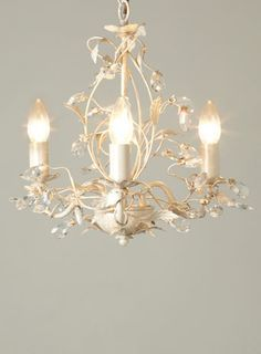 Tahlia 3 Light Chandelier - Cream Gold - ceiling lights - Lighting - BHS