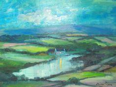 US Impressionism Artist Oil Paintings American Impressionism, Irish Landscape, Worlds Largest, Scene, Oil, The Originals, Night, Colors, Artist