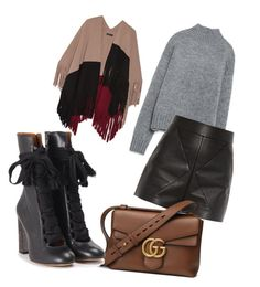 First day of Fall  by whatscooljay on Polyvore featuring polyvore, fashion, style, Zara, Burberry, Balenciaga, Chloé, Gucci and clothing