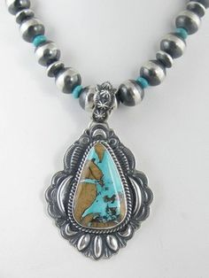 Turquoise Pendant. This stone looks like a map.