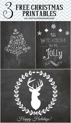 Check out these 3 Free Christmas Printables #Christmas Decor| http://christmas-decor-styles-572.lemoncoin.org