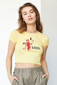 19b1734f60 Slide View  1  Truly Madly Deeply No Angel Cropped Tee Clothes For Sale