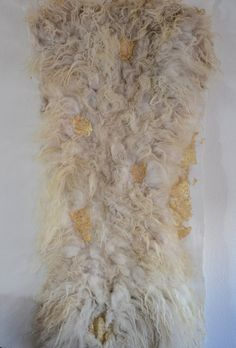 felted felt raw wool wall ]