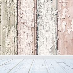 Shabby Wood Backdrop, Newborn Baby Photography Prop, Distressed White Floor Drop, Weathered Wood Printable Digital Wallpaper, 61cm 2ft