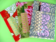 fabric covered steno pad.