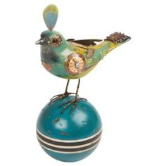 Bird (Tangara Seledon) on Turquoise Ball