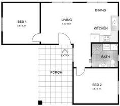 Image result for granny flat floor plan