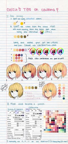 coloring hair in manga studio 5- kuro's way- by Sternenmelodie on DeviantArt