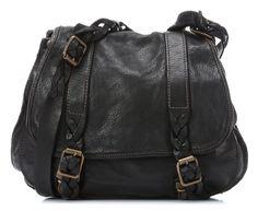Lavata Treccia Shoulder Bag Leather black 33 cm