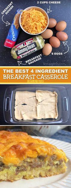 Breakfast For A Crowd, Breakfast Casserole Sausage, Quick And Easy Breakfast, Best Breakfast Recipes, Perfect Breakfast, Breakfast Dishes, Brunch Recipes, Breakfast Ideas, Breakfast Enchiladas