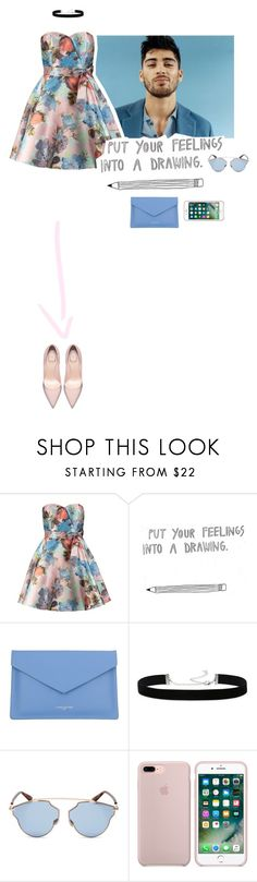 """I LOVE YOU"" by www-som ❤ liked on Polyvore featuring Chi Chi, Lancaster, 2028 and Christian Dior"