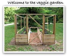 Critter proof veggie garden, hubby built for next year :)