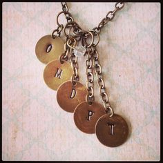Gorgeous layered hand stamped jewellery by Window to your Heart.