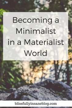 Becoming a Minimalist in a Materialist World