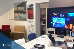 WELCOME TO OUR SHOWROOM IN PARIS! #paris #mosaicogroup #multimedia #international #smarthome #bms #cdn #conference