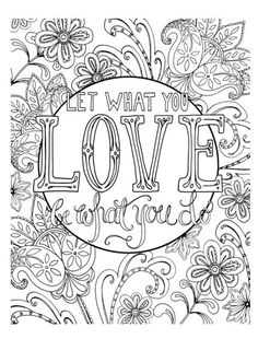 286 Best Words Colouring Pages For Adults Images In 2019