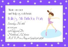 Figure Skating Party Printable Invitations by TrishsDesignStudio