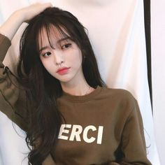 References for drawing Korean Bangs Hairstyle, Korean Haircut, Hairstyles With Bangs, Girl Hairstyles, Ulzzang Hairstyle, Medium Hairstyle, Hair Bangs, Girl Haircuts, Asian Bangs